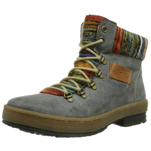 Rieker Z6743, Women's Boots, Grey (Basalt/nuss/orange-multi), 5 UK (38 EU)