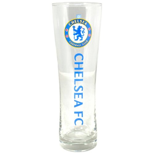 Chelsea Wordmark Crest Peroni Pint Glass - Tall Beer Official Football Fc Gift -  glass tall beer chelsea official football peroni fc pint gift