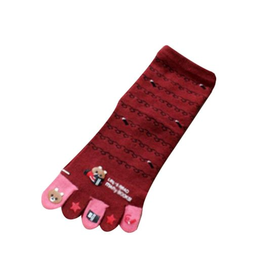 Warmming Sport Socks Cute Cartoon Tube Toe Scoks