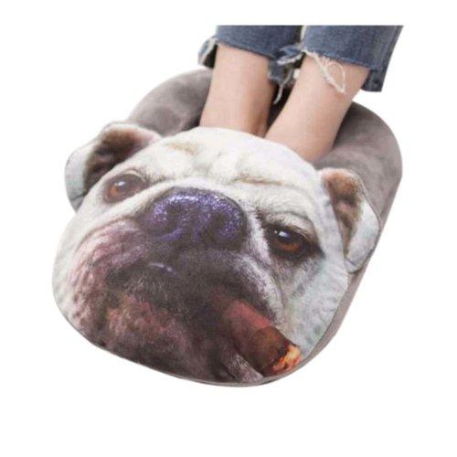 [Dog] USB Foot Warmer Heating Pad Slippers Washable For Home/Office Warm Feet Treasure