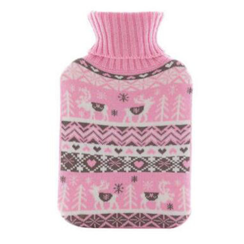 Warm Cute Hot-Water Bottle Water Bag Water Injection Handwarmer Pocket Cozy Comfort,G