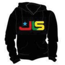 Small Black Ladies Jls Logo Hooded Top. -