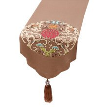 Chinese Style Elegant Table Runner Tablecloth Bed Flag Bed Runner, NO.5