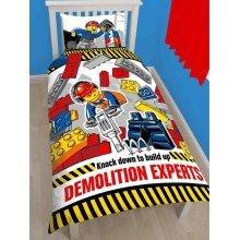 Lego City Demolition Single Duvet Cover Set Polycotton