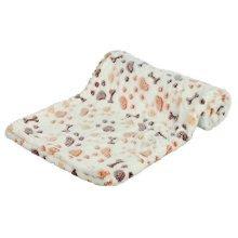 Trixie Lingo Blanket, 75 x 50 Cm, White/beige - Whitebeige Blanketcm Dog Soft -  trixie lingo whitebeige blanket 75 50 cm dog soft cover various